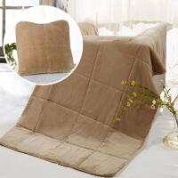 多功能抱枕被汽车靠枕办公室午睡毛毯两用被子腰靠沙发靠垫被