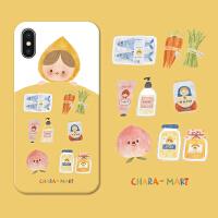 插画P30P华为nova4苹果7plus/iphoneXSmax手机软壳 苹果 X 软壳
