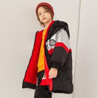 【1件4折价:319.6】moomoo童装男童羽绒服冬季男中童休闲时尚蓄热羽绒服