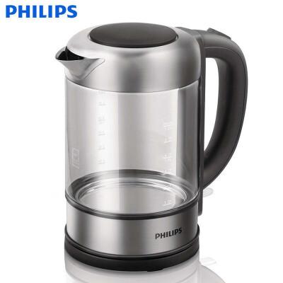 Philips/飞利浦 HD9342/08电热水壶开水泡茶煮茶壶不锈钢玻璃 家电自营
