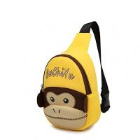 儿童挎包韩版小孩包包可爱宝宝斜挎包女潮男童胸包迷你背包小挎包 黄色