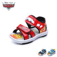 迪士尼Disney童鞋2018新款夏季凉鞋汽车总动员休闲鞋小童帅气闪灯鞋(5-10岁可选) DS2766