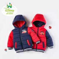 迪士尼Disney童装儿童棉衣秋冬保暖加厚夹棉男女宝宝外套带帽上衣棉袄174S991