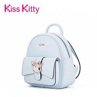 Kiss Kitty双肩女包2017新款韩版背包可爱猫咪针扣学院风百搭书包