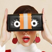 【支持礼品卡】HR赫莲娜女士包包潮流时尚大眼睛长款钱包宴会休闲商务通勤手拿包