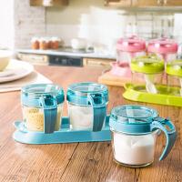 家用玻璃调味罐调味盒套装佐料盒 创意厨房用品调料盒盐罐调料罐