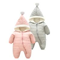 婴儿秋装1岁3个月男宝宝春秋长袖哈衣女童爬爬服秋冬新生儿连体衣