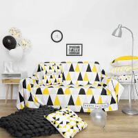 北欧风黄黑简约沙发巾短绒沙发垫布艺沙发套沙发罩全盖巾四季通用
