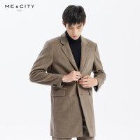 【1件4折到手价:474,4月10日0点】MECITY男装冬季新款时尚中长款大衣男士休闲外套羊毛男