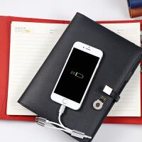 商务记事本带电源16G U盘活页A5笔记本无线充礼品盒套装