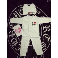 新生儿套装内衣婴儿保暖衣宝宝连体衣爱爸爸妈妈衣服