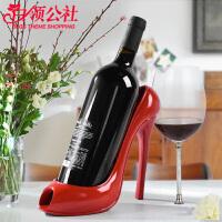 白领公社 酒架 简约个性办公家用高跟鞋红酒架创意家居装饰品酒柜客厅摆件工艺葡萄酒架酒具