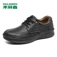 木林森男鞋2018秋冬新款真皮皮鞋增高耐磨商务休闲鞋 87053328