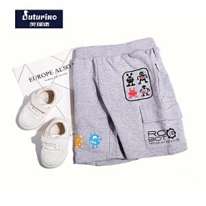 【99元3件】芙瑞诺童装男童夏装2018夏季新品休闲短裤中裤