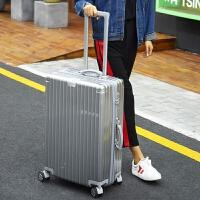 时尚镜面拉链箱万向轮行李箱复古拉杆箱26寸28寸托运箱旅行箱男女