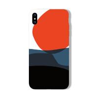iphone8plus手机壳X/XR创意拼色7P软硅胶6S苹果XS MAX卡通5情侣套