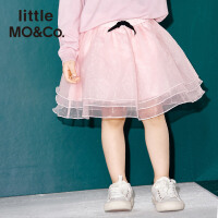 littlemoco女童装松紧腰层叠欧根纱蓬蓬蛋糕裙半身裙KA171SKT001 moco
