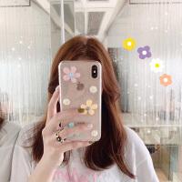 可爱花朵九se手机壳米8探索版6X限量红米note7透明mix2s青春 小米9 透明 立体花