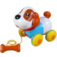 盈佳儿童感应狗电动机器狗智能对话 拉线狗牵绳宠物小狗玩具拖拉狗