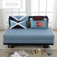 ZUCZUG现代小户型可折叠沙发床1.5 1.2米简约双人布艺榻榻米懒人沙发两 1 1.8米-2米