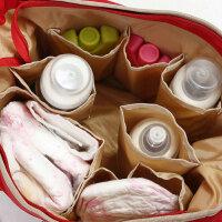 多功能妈咪包内胆婴儿宝宝手提奶瓶收纳袋母婴外出用品包 咖啡色