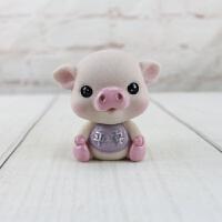 装饰摆件 创意可爱摇头小猪宝 汽车车载装饰摆件树脂工艺品 汽车装饰 可爱小猪