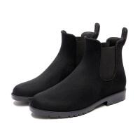 雨牧防水切尔西时尚雨鞋女套鞋韩国雨靴保暖水鞋短筒水靴胶鞋