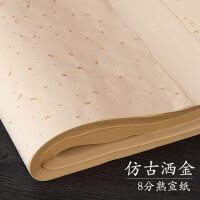 初学者仿古色洒金毛笔字书法熟宣纸四尺练习纸