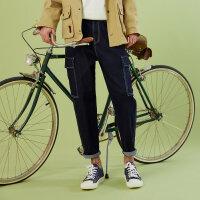 【1件3折价:59.7,可叠券】美特斯邦威萝卜牛仔裤男春季潮流搭配休闲青少年男士裤子