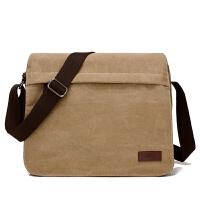 男士包包帆布包单肩包简约斜挎包大容量电脑包单背包男包包大挎包