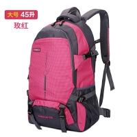 新款户外轻大容量背包旅行防水登山包女运动书包双肩包男25L45L