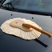 蜡刷汽车用蜡拖洗车掸子刷子除尘掸擦车拖把木把车用清洁SN1839 灰色 高档蜡刷+收纳箱