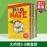 我们班有个捣蛋王 英文原版 Big Nate 8-book Box Set 大内特1-8册盒装 小屁孩日记作者推荐 进