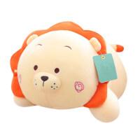 可爱创意小狮子恐龙抱枕公仔儿童可爱睡觉抱趴枕布偶男孩生日礼品
