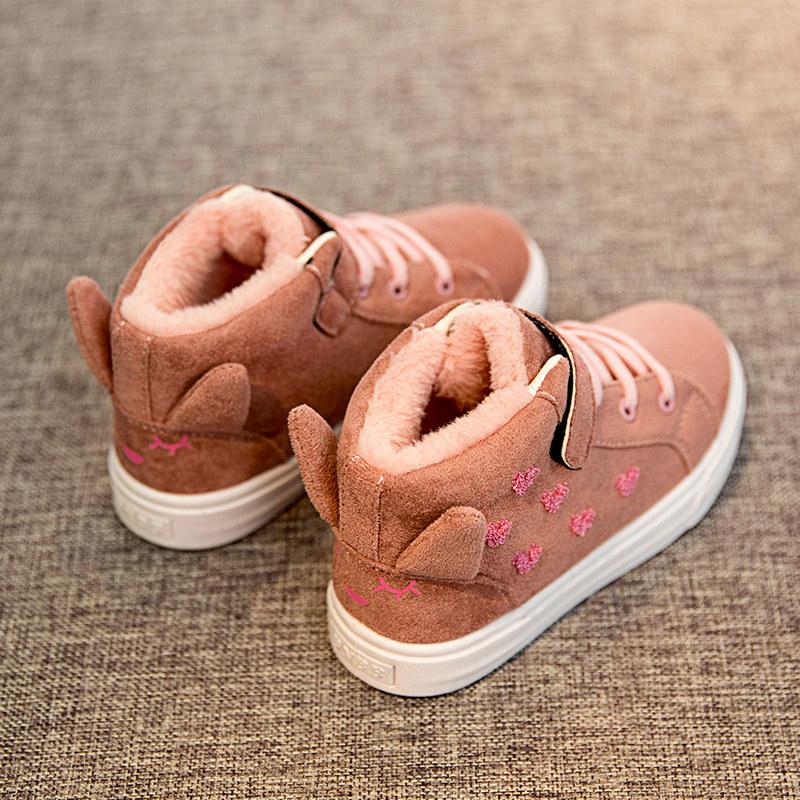 女童棉鞋2018新款冬季棉靴宝宝鞋加绒二棉鞋中大童童鞋儿童冬鞋子 发货周期:一般在付款后2-90天左右发货,具体发货时间请以与客服协商的时间为准