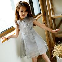3儿童装4女童连衣裙6夏装短袖5公主裙子8小孩9夏天岁小女孩8061 灰色