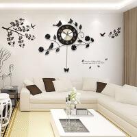 时尚客厅挂钟创意卧室钟表现代挂表时钟摇摆静音石英钟 无夜光 20英寸以上