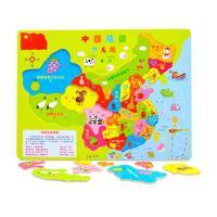 ?木质中国世界地图拼图2-3-4-6-7-8周岁儿童早教力玩具男女孩玩具?