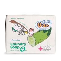 韩国Sanita U-ZA 婴幼儿黄瓜温和洁净滋润亲肤洗衣皂四联装176g*4
