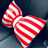 汽车头枕护颈枕一对靠枕可爱女蝴蝶结车载枕头座椅车用车内颈椎枕