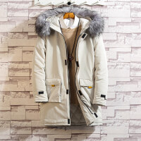 大毛领中长款工装棉衣外套男加肥加大码冬季加厚保暖棉袄