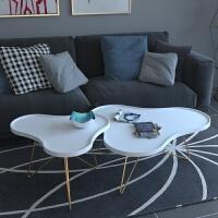 北欧实木茶几简约客厅创意家具高低组合小户型迷你后现代个性茶桌 组装