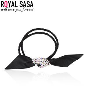 皇家莎莎橡皮筋发圈头绳韩版皮套简约个性大蝴蝶结扎头发饰品发绳