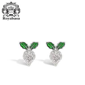 皇家莎莎S925银耳钉女韩国简约小清新气质耳环甜美耳饰品个性首饰