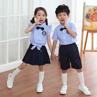 六一儿童演出服装女儿童节表演服背带裤幼儿园毕业照服装