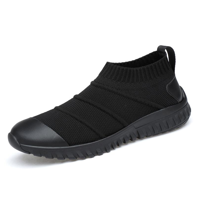 男鞋子内增高潮鞋百搭板鞋韩版厚底休闲跑步鞋学生百搭男鞋 黑色