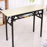 折叠长条桌长方形培训会议桌子会展桌学习便捷书桌折叠桌餐桌 单层加固 长120宽50高75