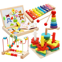 儿童绕珠串珠6一12个月婴幼益智玩具男孩女宝宝积木0-1-2周岁-3岁