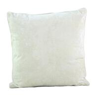 北欧风冰花丝绒纯色简约抱枕汽车沙发靠垫靠枕床头靠背套含芯 乳白色 10