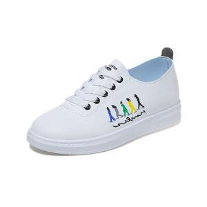 WARORWAR新品YM76-A1805四季休闲鞋平底鞋舒适女鞋潮流时尚潮鞋百搭潮牌休闲鞋小白鞋